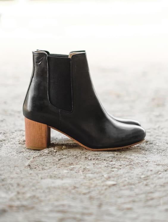 Chelsea boots à talon Noir