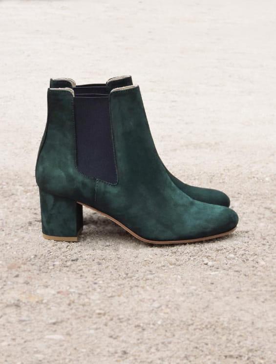 Chelsea heel - Fir green