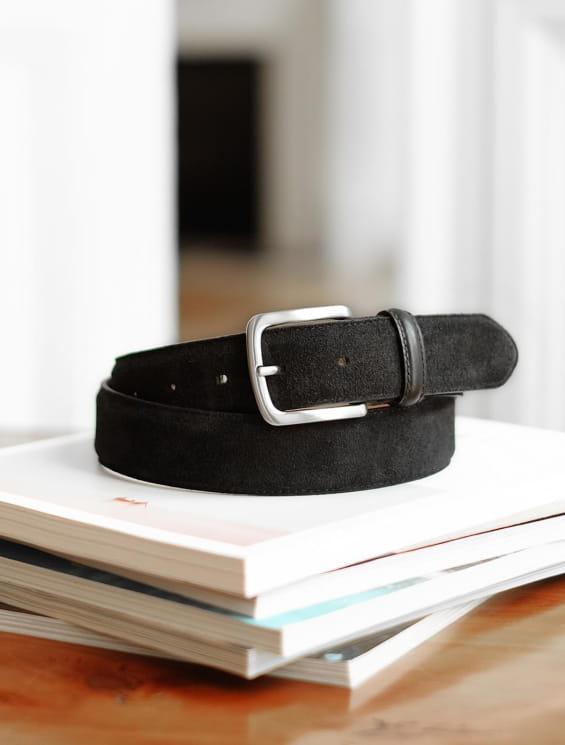 Classic belt man - Black suede