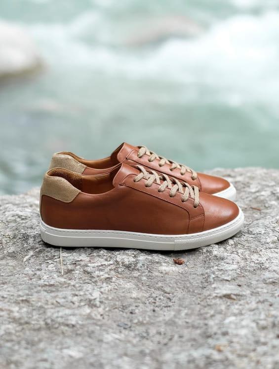 Sneakers - Cognac et Doré