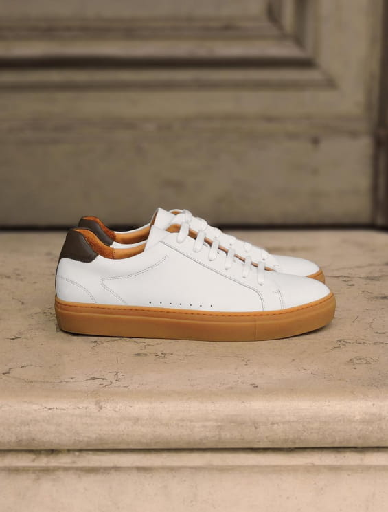 Honey Sneakers - White and Khaki