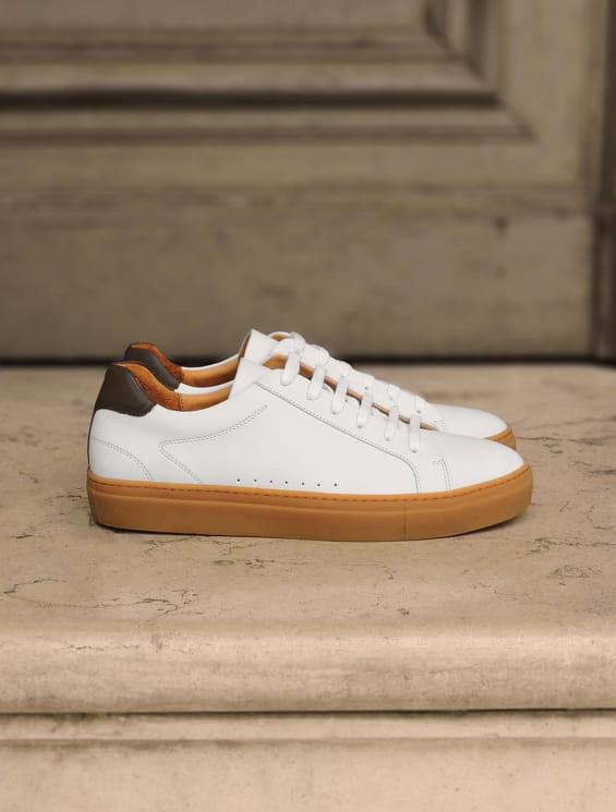 Sneakers Miel - Blanc et Kaki
