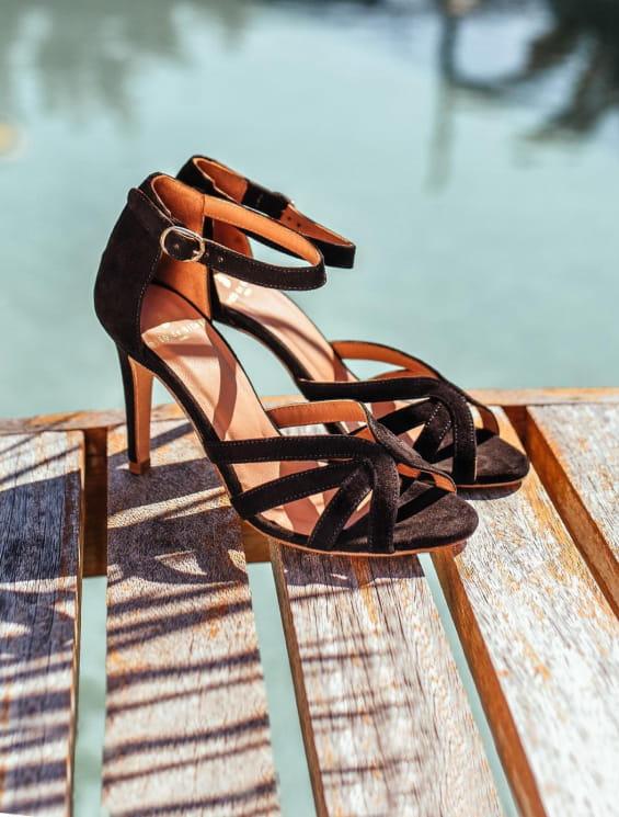Sandales à talons Hortense - Noir