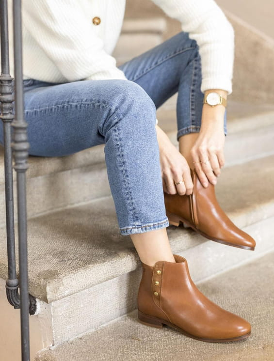 Flat boots - Romy Cognac