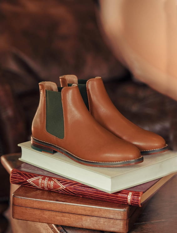 Chelsea Boots - Cognac and Khaki