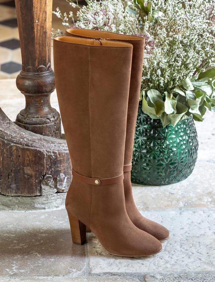 Ysée Heeled Boots - Cognac