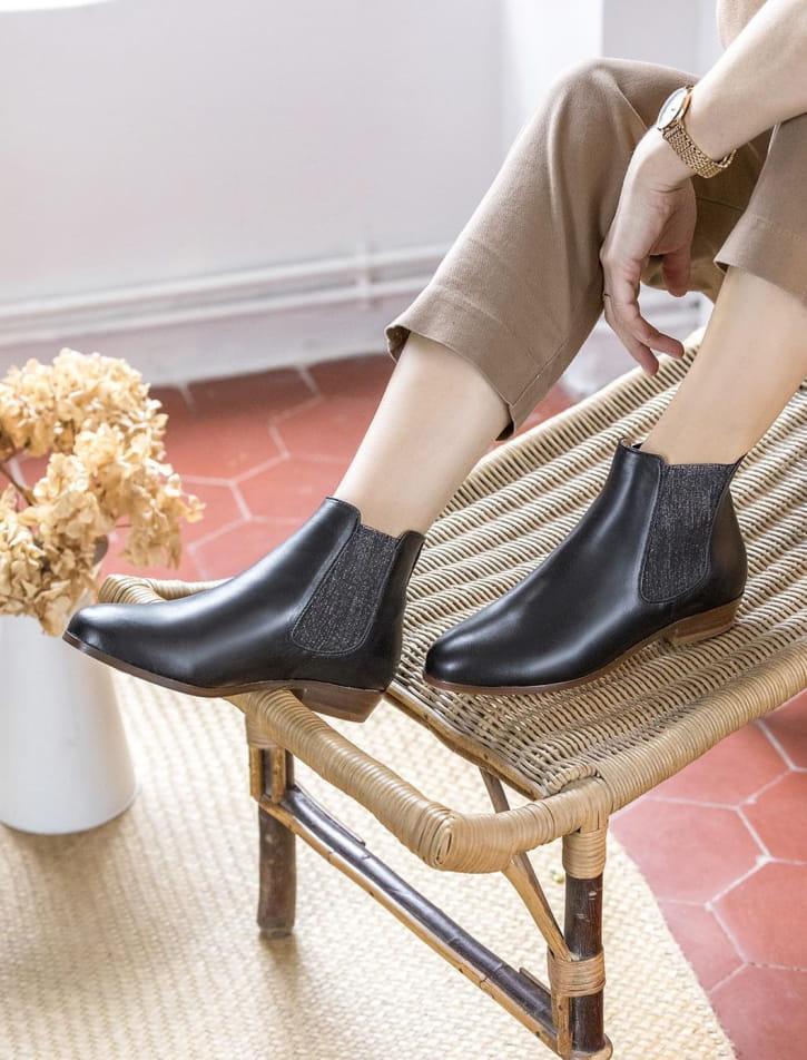 Chelsea boots - Noir pailleté