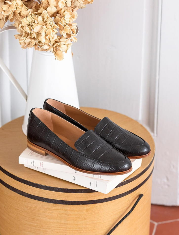 Moccasins Croco - Black
