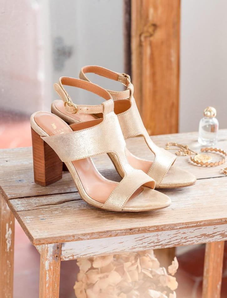 Gabie heeled sandals - Gold