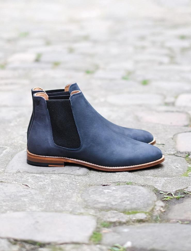 Chelsea boots Bleu tempête