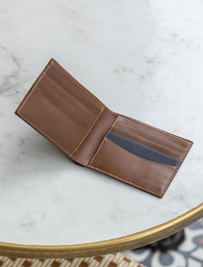 Wallet - Coffee bean and Midnight blue