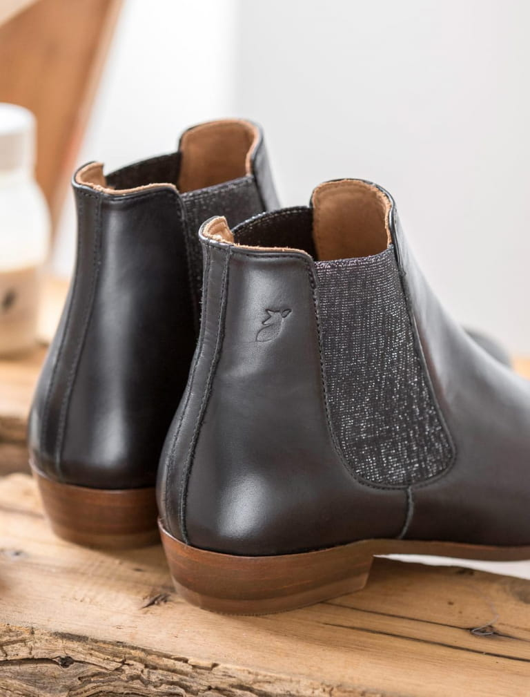 Chelsea boots - Black with glitter
