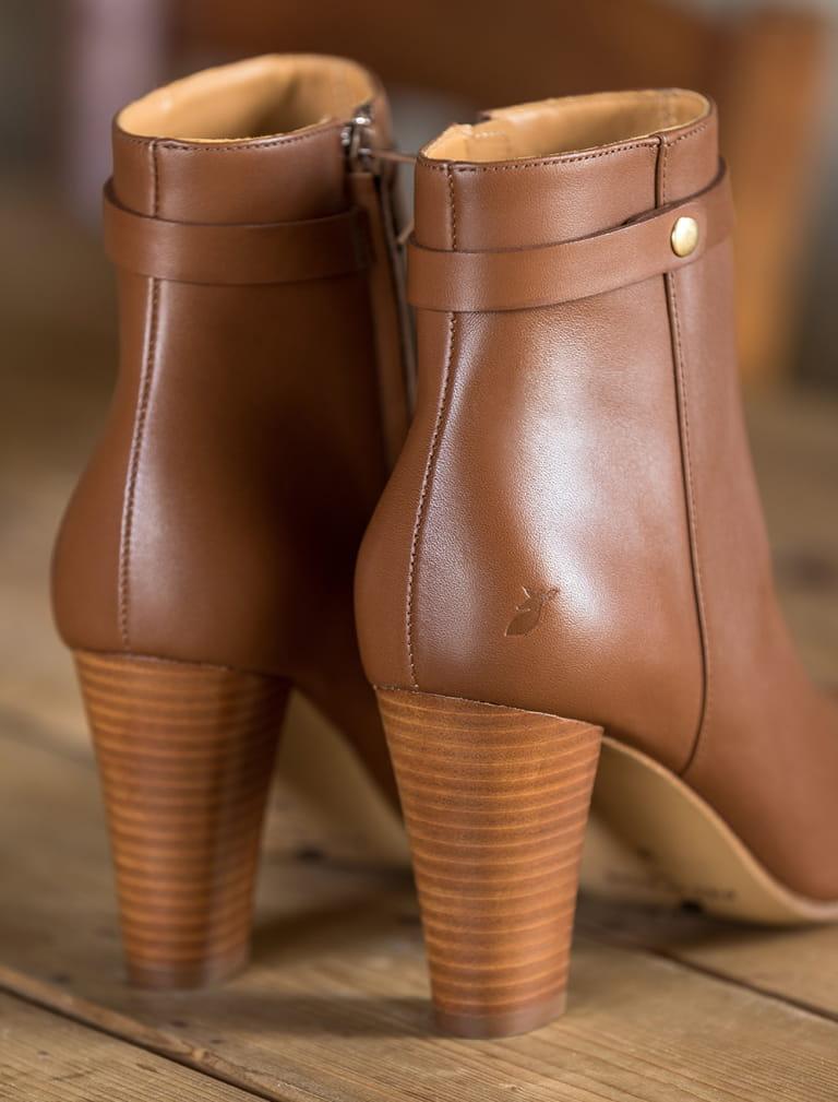 Ysée Ankle heeled Boots - Cognac