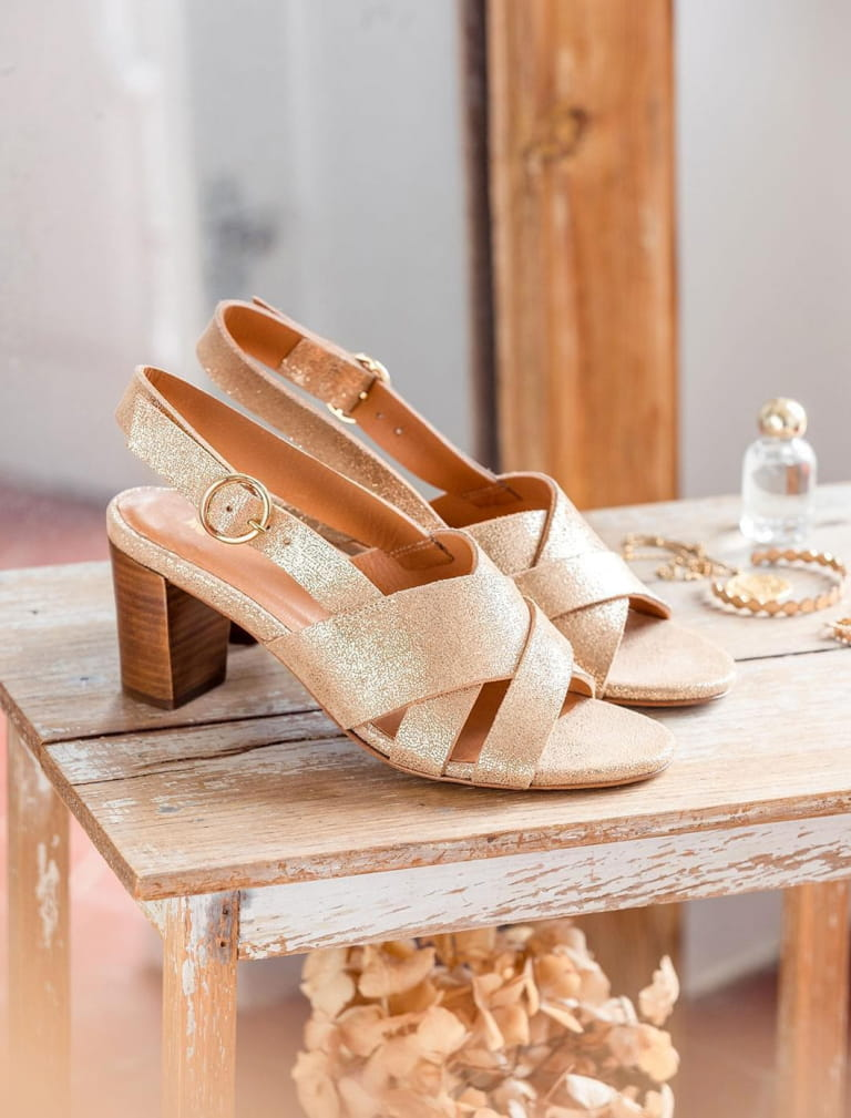 Giulia heeled sandals - Gold