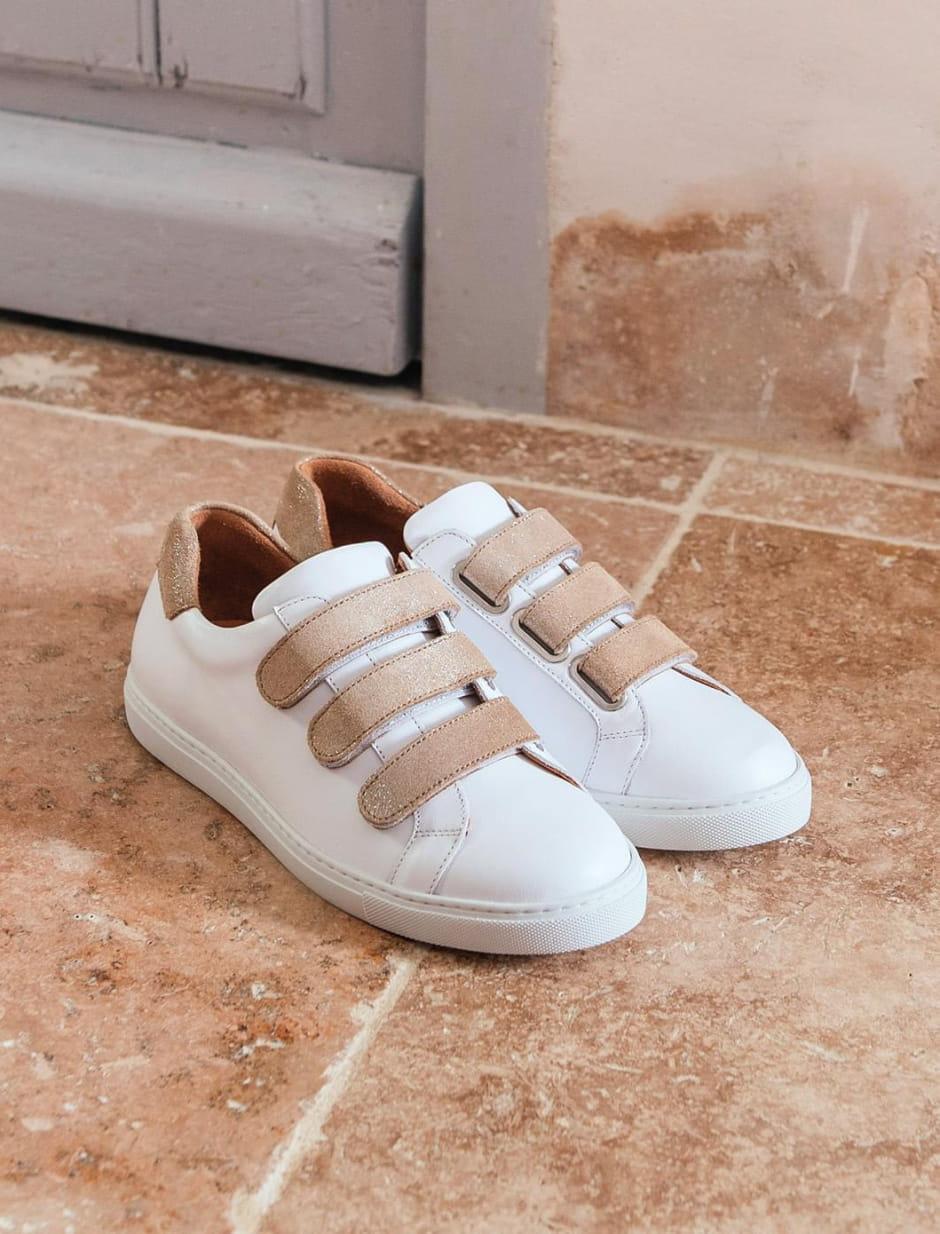 Sneakers - Blanc et sable
