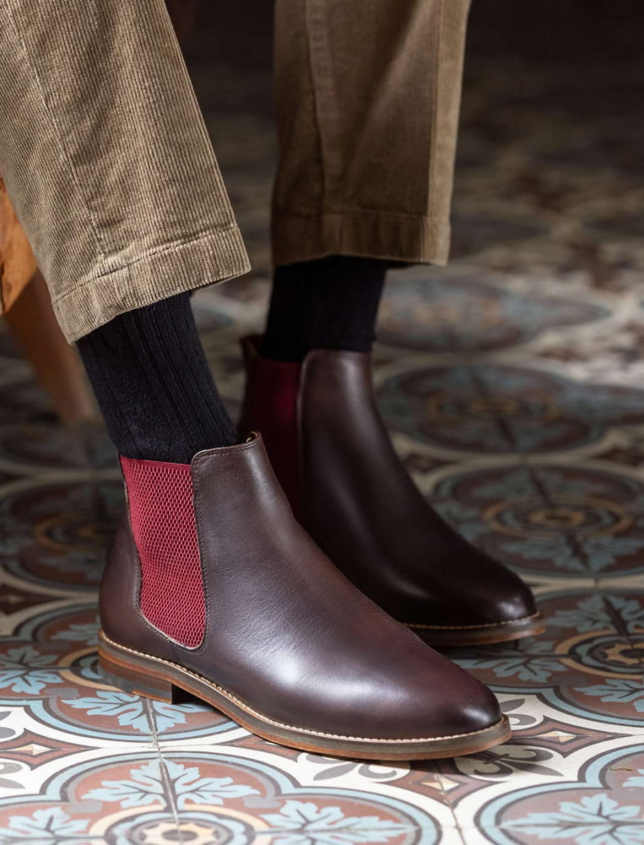 Chelsea Boots - Chocolate and burgundy