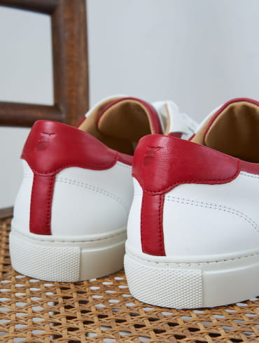 Sneakers Elio - White and cherry