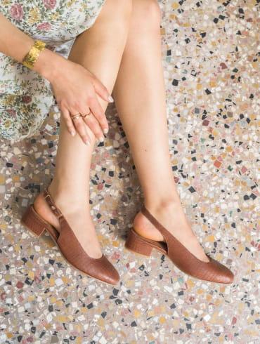 Paola Ballerinas - Cognac
