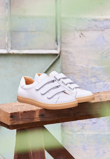 Alice Scratch Sneakers  Alice - White and Honey