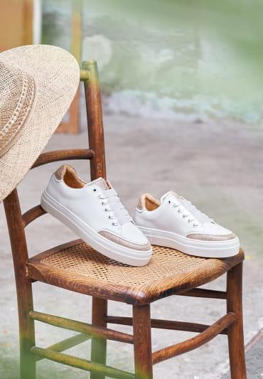 Sneakers Suzanne - Blanc et doré