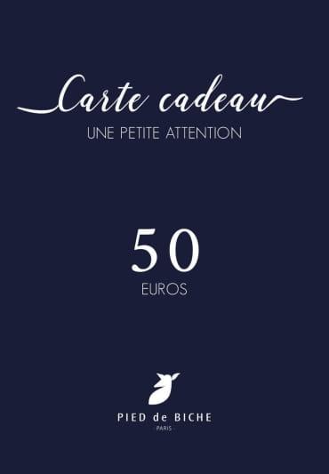 Gift card 50 euros