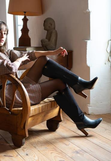 Sally heeled boots - Black