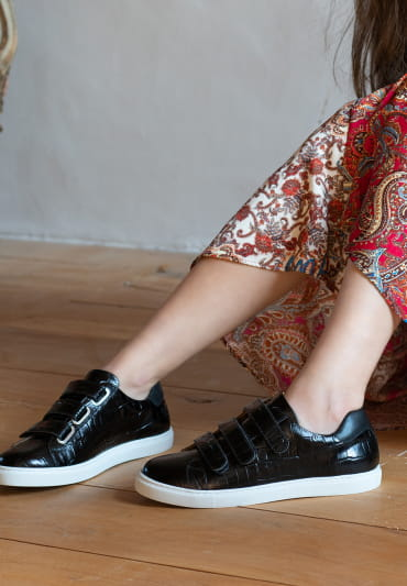 Sneakers Alice - Croco noir