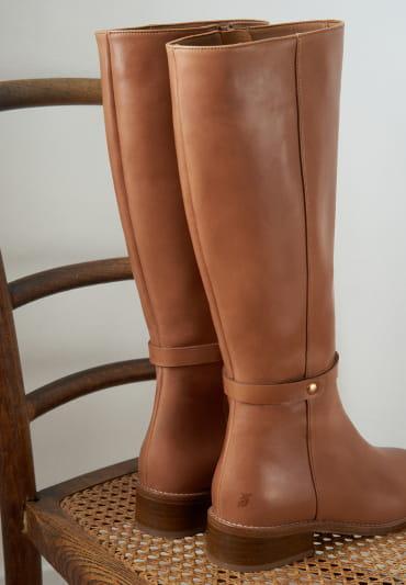 Yséa Flat Boots - Smooth Cognac