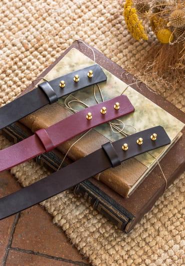 Collar button belt - Black