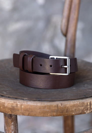 Raw belt man - Brown