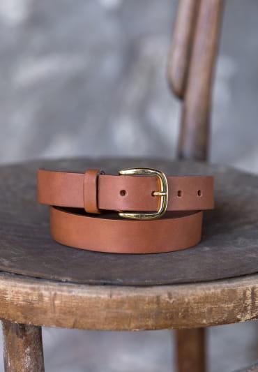 Raw belt - Cognac
