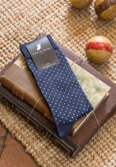 Socks - Midnight blue and Polka dots