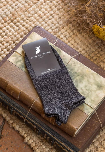 Ankle socks - Black glitter