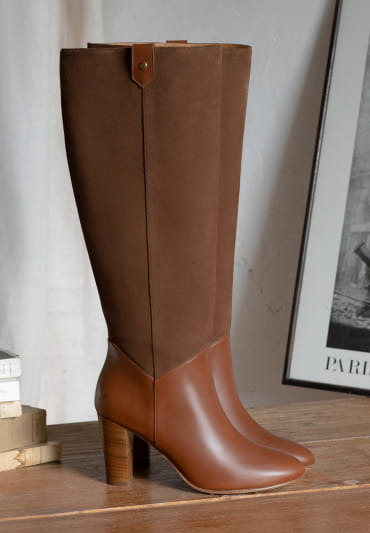 Sally heeled boots - Cognac Boots - Cognac