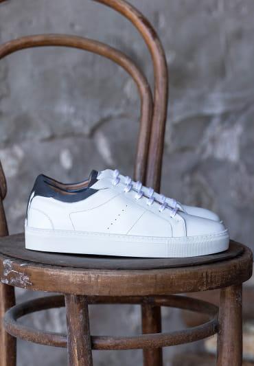 Sneakers Elio - Blanc et bleu
