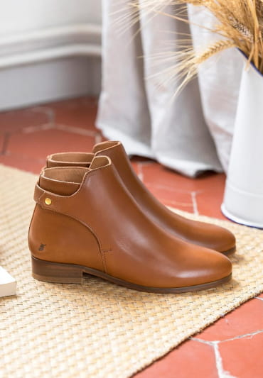Bottines Olga - Cognac