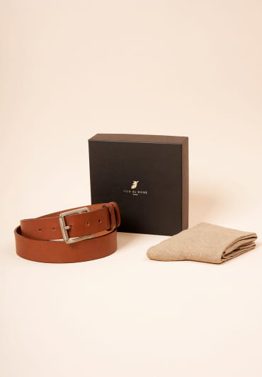 Christmas gift box - Raw belt and socks