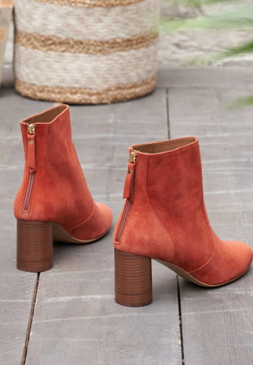 Bottines à talons Megan - Terracotta