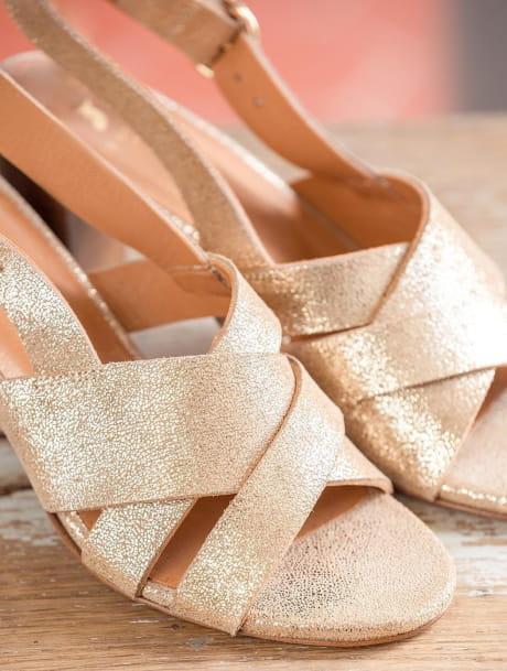 Sandales à talons Giulia - Doré