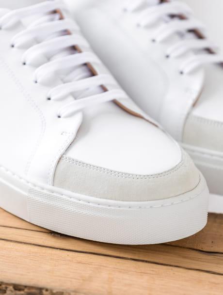 Sneakers Gino - White and khaki