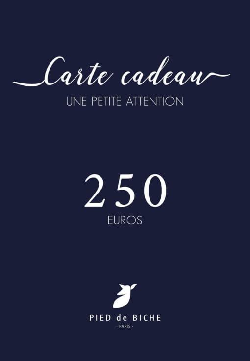 Gift card 250 euros