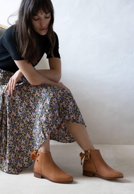 Emilia Boots - Cognac