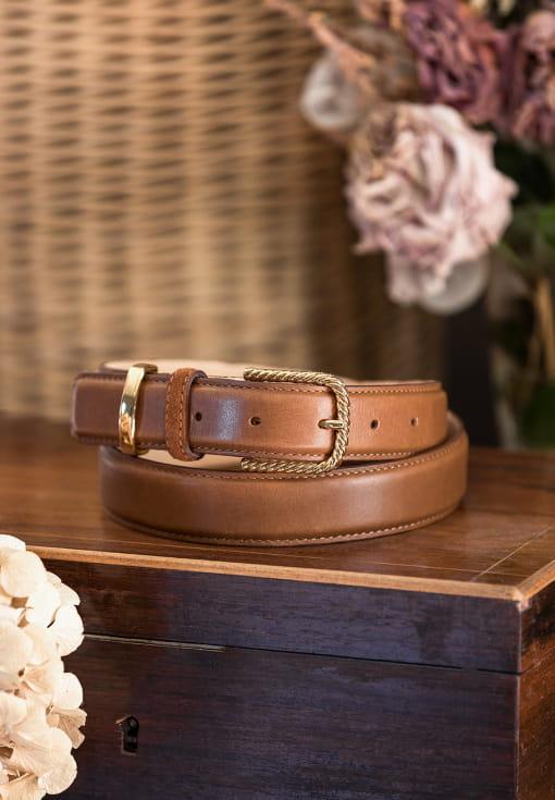 Classic belt woman - Cognac