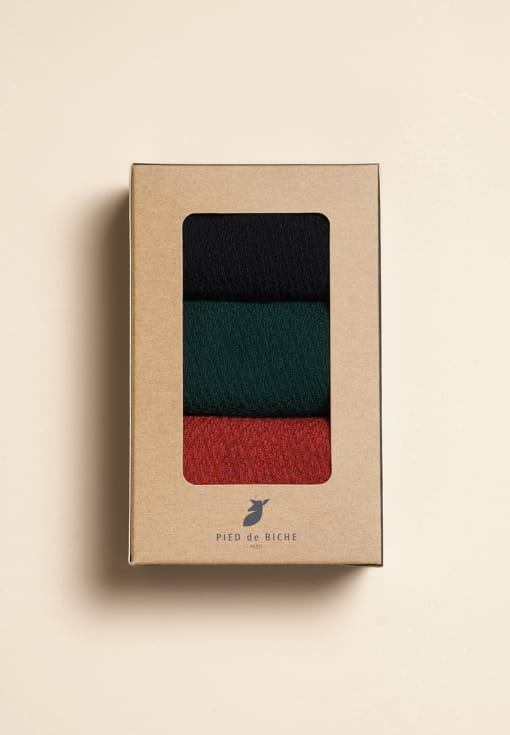Pack of 3 paires of waffle socks