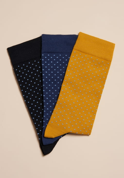 Polka dots Socks - Trio for Man