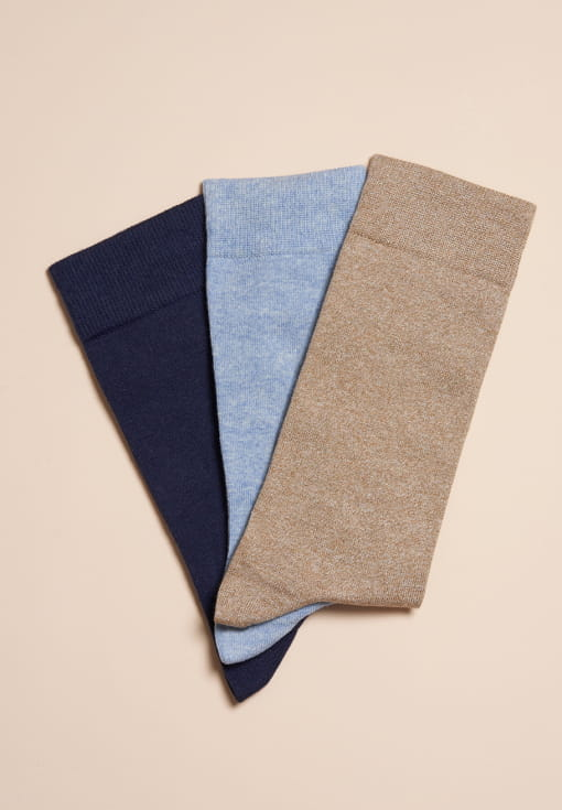 Plain Coloured Socks - Trio Man