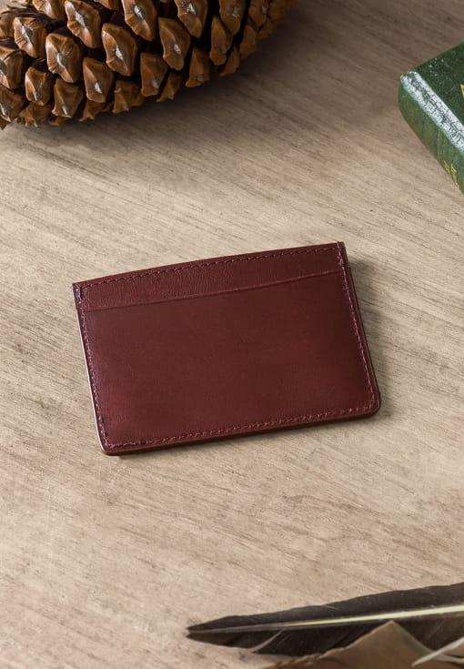 Card holder - Burgundy and Cream