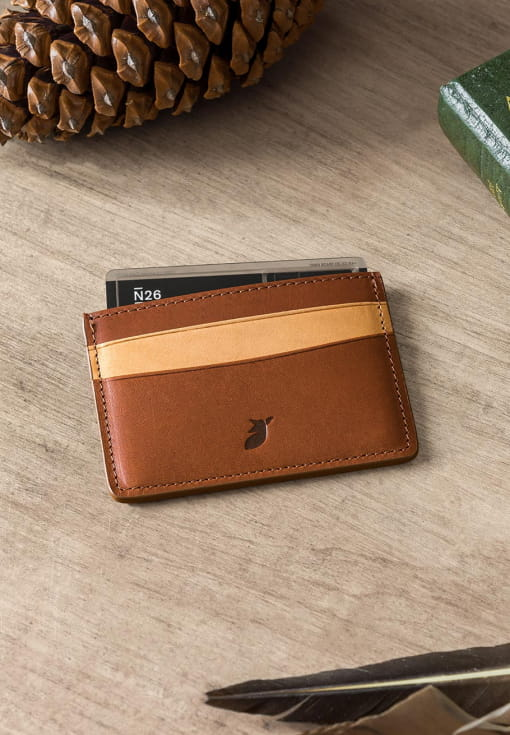 Card holder - Coffee bean and cream