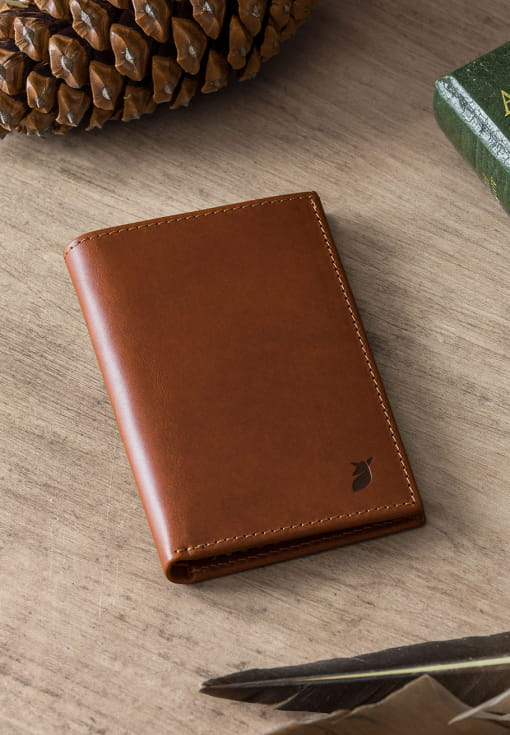 Passport holder - Cognac