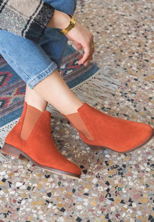 Chelsea boots Anne - Terracotta